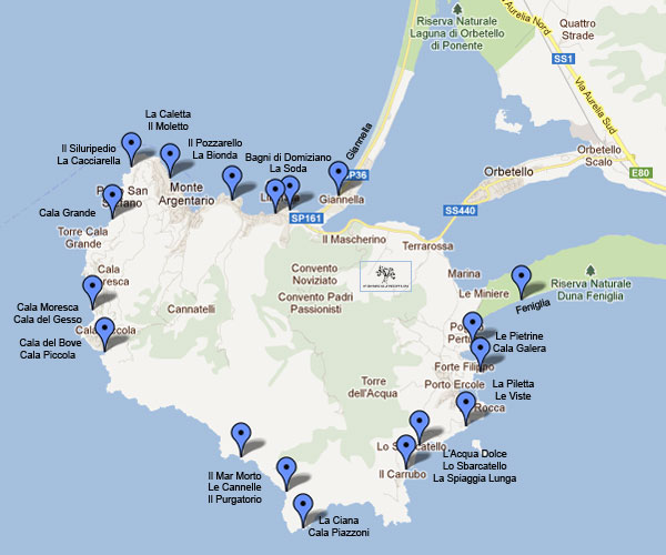 argentario-beaches-map